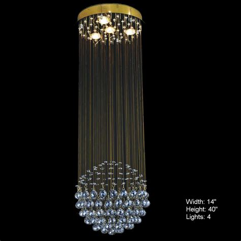 Brizzo Lighting Stores Sphere Modern Crystal Chandelier Lights I