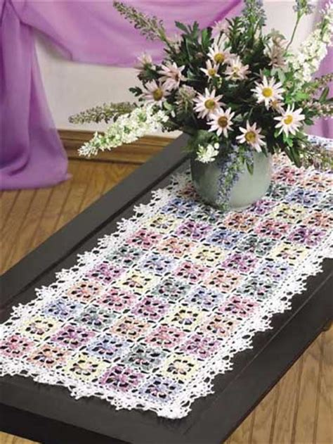 crochet for the home crochet tablecloth table runner