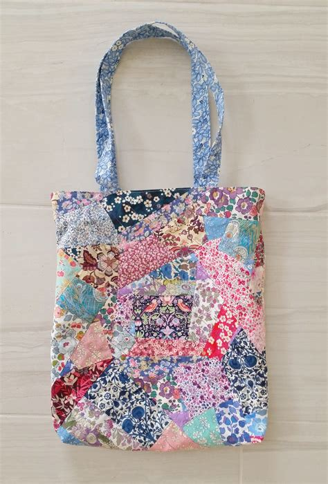 Patchwork Bags - diy liberty patchwork tote bag mad for fabric