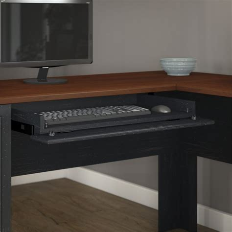 L Shaped Black Computer Desk Features