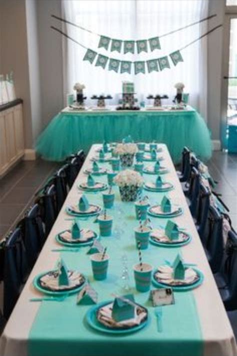 Breakfast at Tiffany's themed baby shower   All things