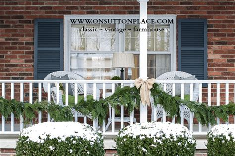Porch Decorations For Christmas simple and natural christmas porch decor on sutton place