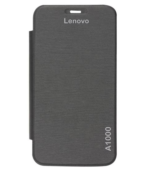 Flip Cover Lenovo A1000 rolltone flip covers for lenovo a1000 black flip covers at low prices snapdeal india