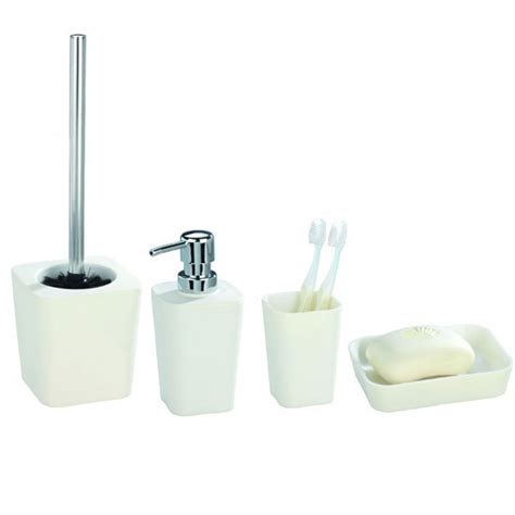 wenko rainbow bathroom accessories set white at
