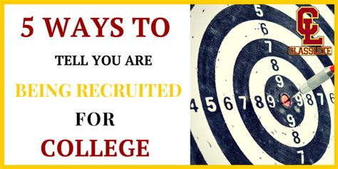 5 Ways To Spot Them by 5 Signs You Are Being Recruited For College Classlete
