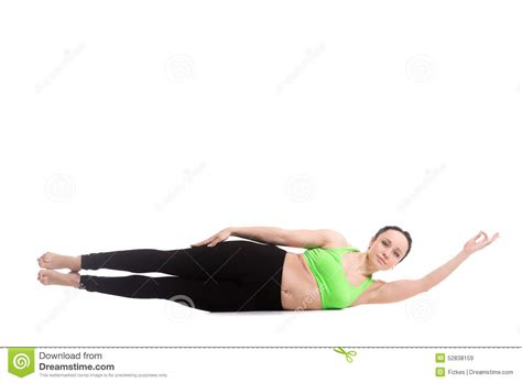 side boat yoga pose parshva ardha navasana royalty free stock photography