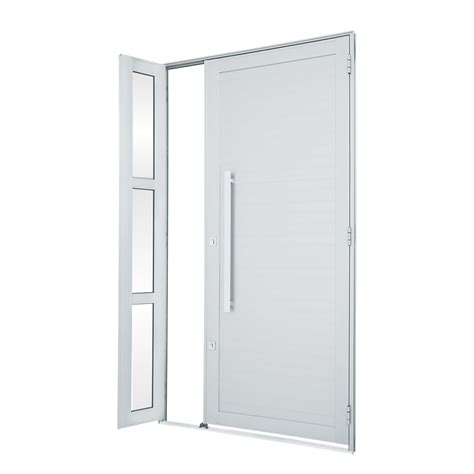 porta porta porta de alum 237 nio de abrir alumifort branca lambri