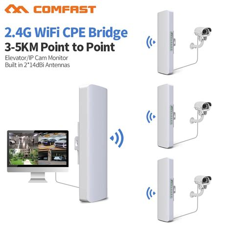 3 5km distance 300mbps outdoor wifi router cpe 2 14dbi wifi antenna high power 2 4g wifi