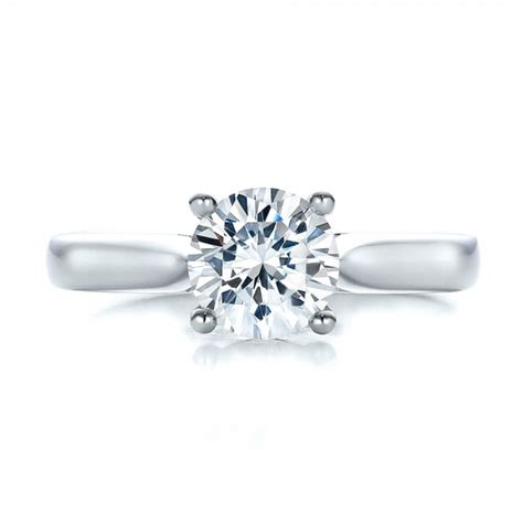 Contemporary Engagement Rings by Contemporary Solitaire Engagement Ring 100399
