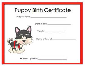 puppy birth certificate template free how does your puppy grow 2018 iditarod on the