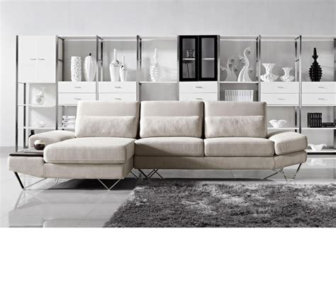 Modern Fabric Sofa Set Dreamfurniture Divani Casa Yorba Modern Fabric Sectional Sofa Set