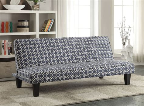 sofa with pattern fabric navy blue trellis pattern fabric sofa bed from coaster