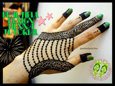 easy simple jewellery inspired henna mehndi designs for