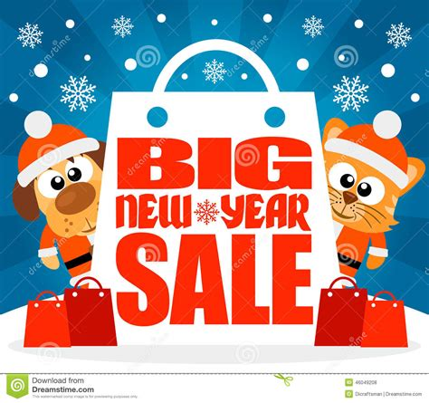 isetan new year sale new year big sale background with animal vector stock