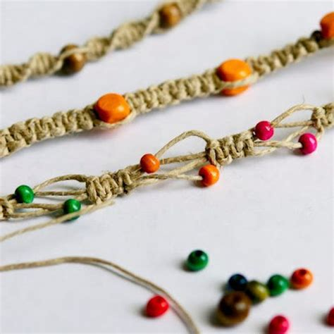 beaded hemp bracelet and 15 tutorials to add to