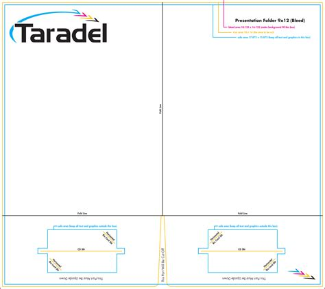 pocket folder template illustrator taradel presentation folders templates