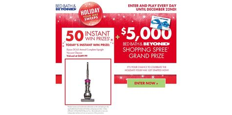 Bed Bath And Beyond Sweepstakes 2014 - holiday your way sweeps holidayyourwaysweeps com win a 5 000 bed bath beyond