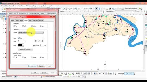 arcgis layout grid how to use or give grid in layout in arcgis youtube