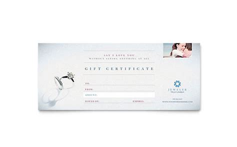 Gift Certificate Template Ai by Jeweler Jewelry Store Brochure Template Design