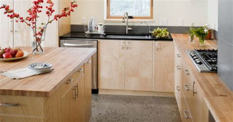 Raised Ranch Kitchen Ideas maple cabinets butcher block countertops modern