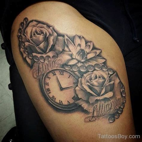 tattoo flower clock tattoo designs tattoo pictures a category wise