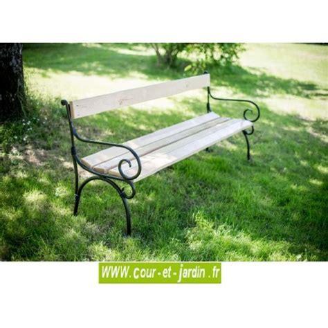 Lattes Bois Pour Banc De Jardin by Banc De Jardin Fer Forg 233 Acier Et Bois M 233 Tal Pas Cher