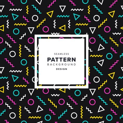 design pattern graphic editor memphis style pattern design vector free download