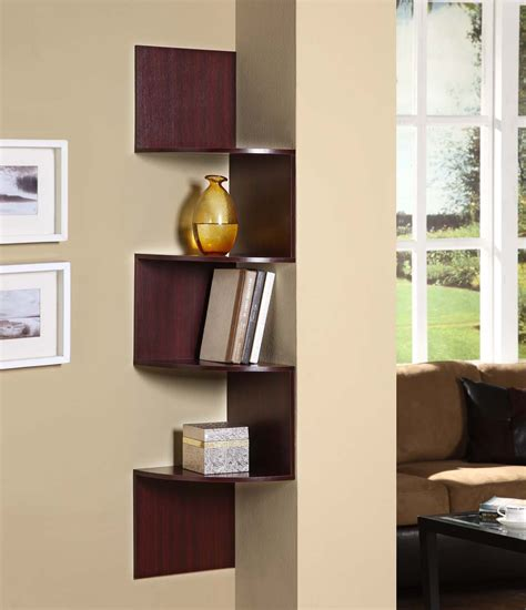 bedroom corner shelf 4d concepts cherry hanging corner storage ebay
