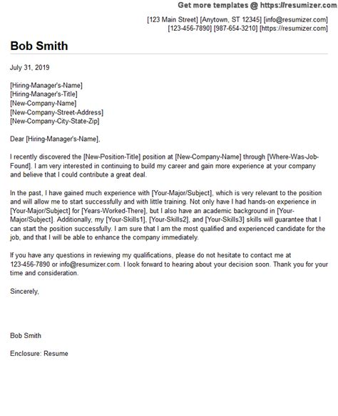 cover letter examples resumizer