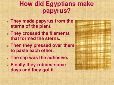 How To Make Papyrus Paper - history of paper