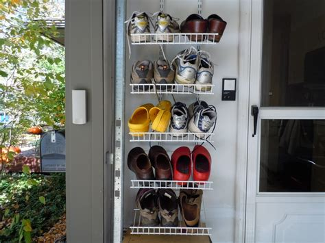 Pegboard Kitchen Ideas by Diy Wall Hanging Shoe Rack For Small Entryway House Design