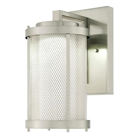 nickel finish light fixtures westinghouse skyview one light led outdoor wall fixture