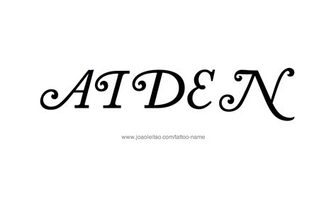 aiden tattoo design aiden name designs