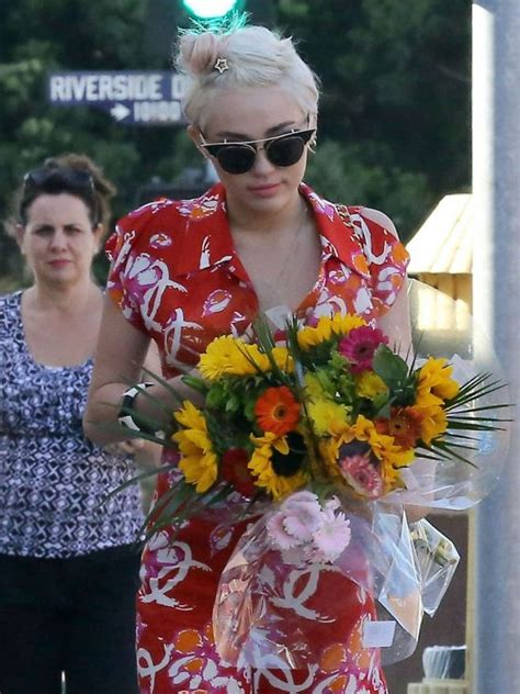 miley cyrus out and about in studio city