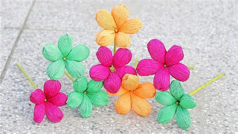 Show How To Make Paper Flowers - how to make paper flower 2017 crepe paper flowers