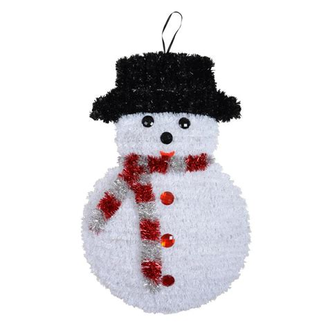 tinsel snowman festive christmas decoration new