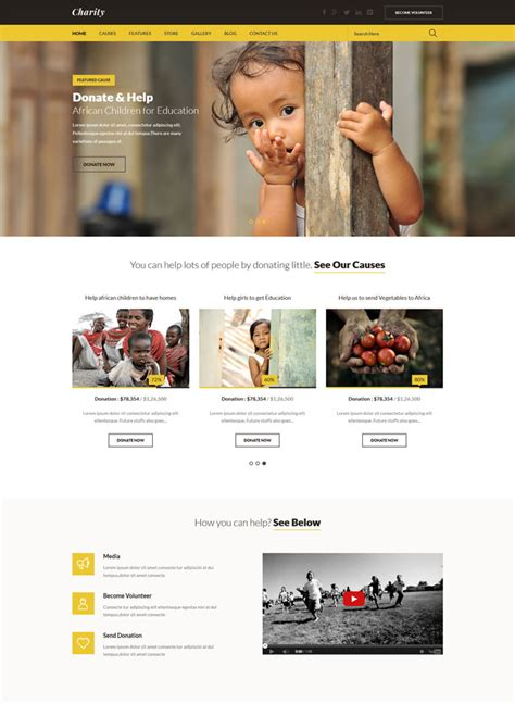 templates for ngo websites 15 essential nonprofit html website templates