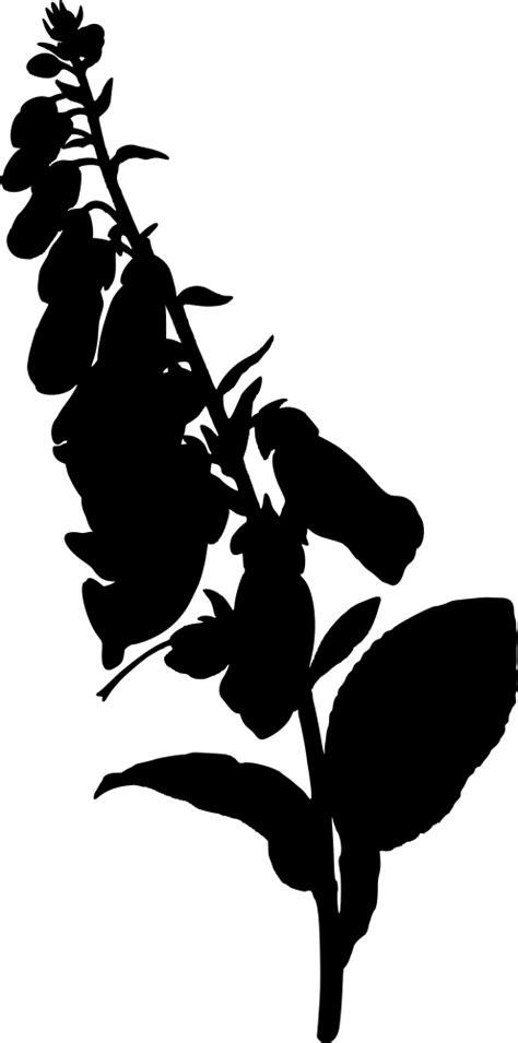 OnlineLabels Clip Art - Foxglove (Silhouette)