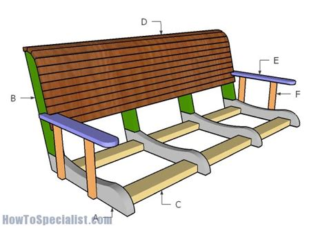 how to build a bench swing porch swing bench plans howtospecialist how to build
