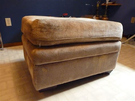 how to reupholster an ottoman with storage d i y d e s i g n diy recycled storage ottoman