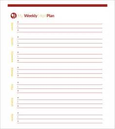 blank weekly menu template sle meal planning template 15 free documents