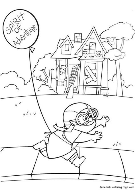 Coloring Page Up House by Printable Disney Up Plot Coloring Pages For Kidsfree