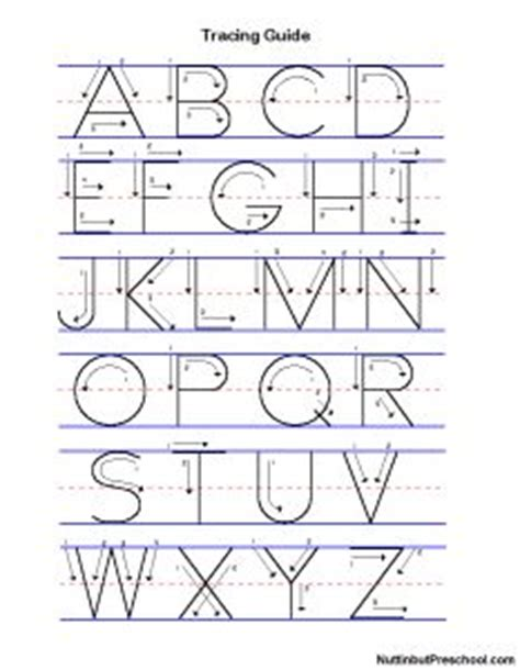 alphabet tracing uppercase and lowercase nuttin but letters on pinterest alphabet stencils alphabet and
