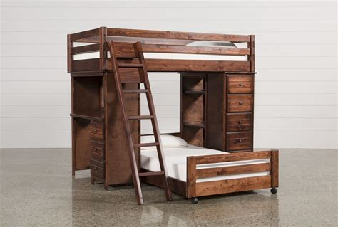 Bunk Loft Bed With Desk Sedona Loft Bunk W Chest Desk Living Spaces