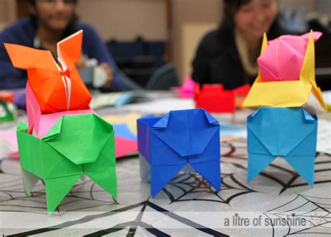 Origami Clubs - a litre of dessert doctrine sfu origami club yvc