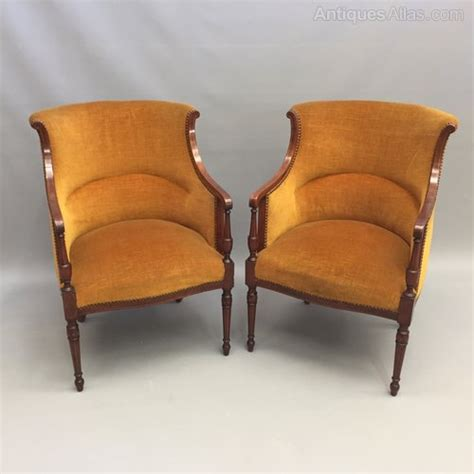 Tub Armchairs For Sale by Pair Of Directoire Style Tub Armchairs Antiques Atlas
