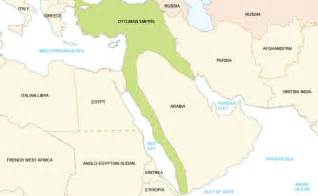 middle east map pre world war maps how world borders changed since ww1