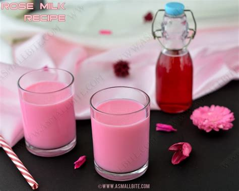 homemade rose food rose milk recipe homemade rose syrup recipe asmallbite