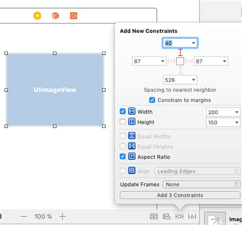 xcode horizontal layout xcode auto layout and image views views stack overflow