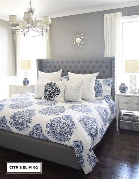blue and silver bedroom new master bedroom bedding citrineliving